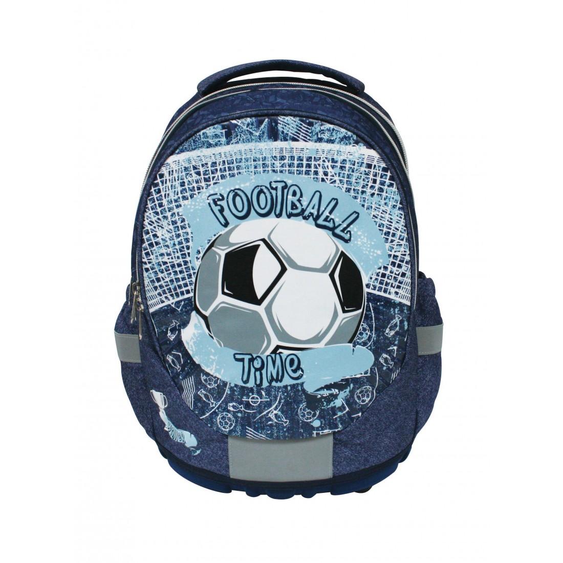 f5f6be4544b48 Plecak szkolny do klasy 1-3 PIŁKA niebieski Football Time - plecak ...