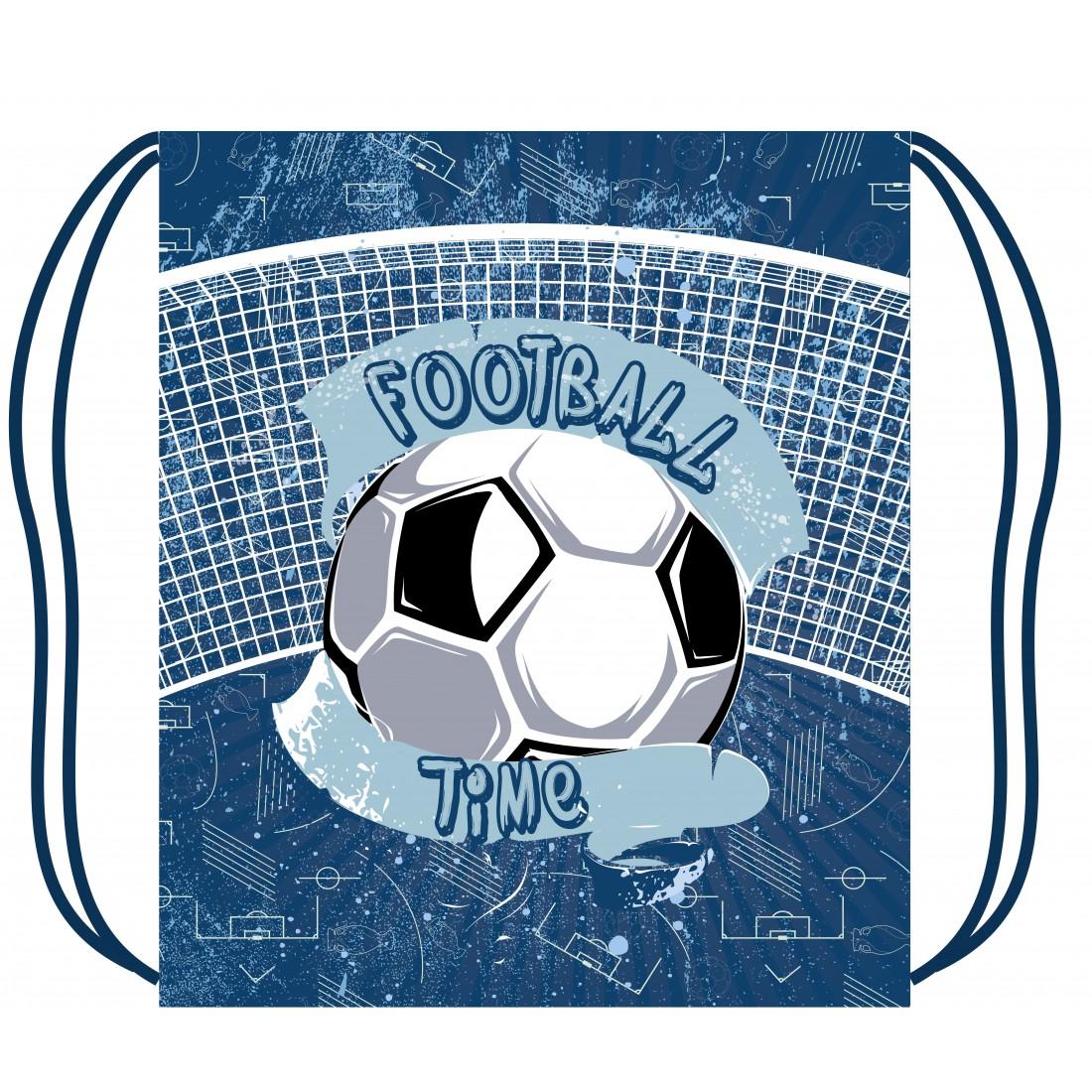 8c71bc2068386 Worek na obuwie PIŁKA niebieski Football Time - plecak-tornister.pl