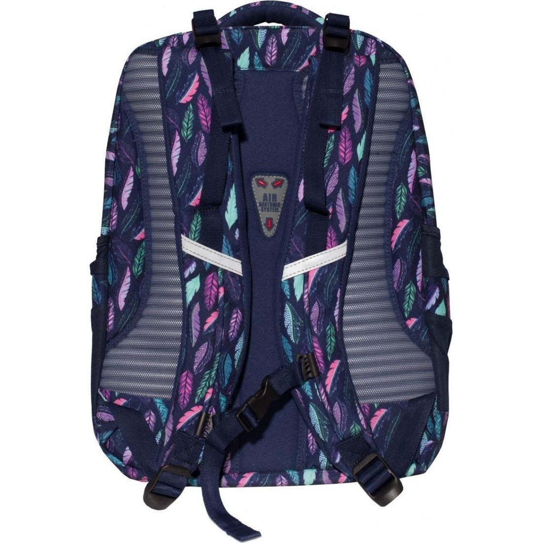1575dea03d156 Plecak do szkoły - miętowe i różowe pióra - Feathers TOP-2000 Vela - plecak -tornister.pl