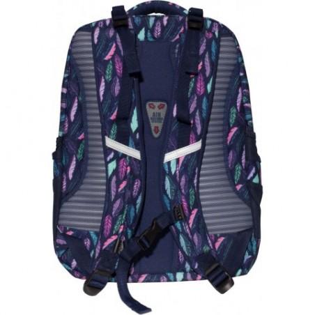 9ad285e7b8f49 Super plecak szkolny, który jest praktyczny, a zarazem modny. W ciekawym  printem w piórka.