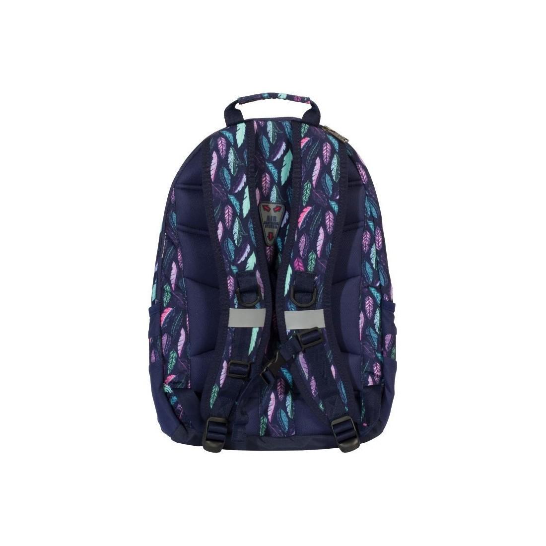 4ea6febcdb9b9 Plecak do szkoły na laptop, miętowe i różowe pióra - Feathers TOP-2000  Zibal - plecak-tornister.pl
