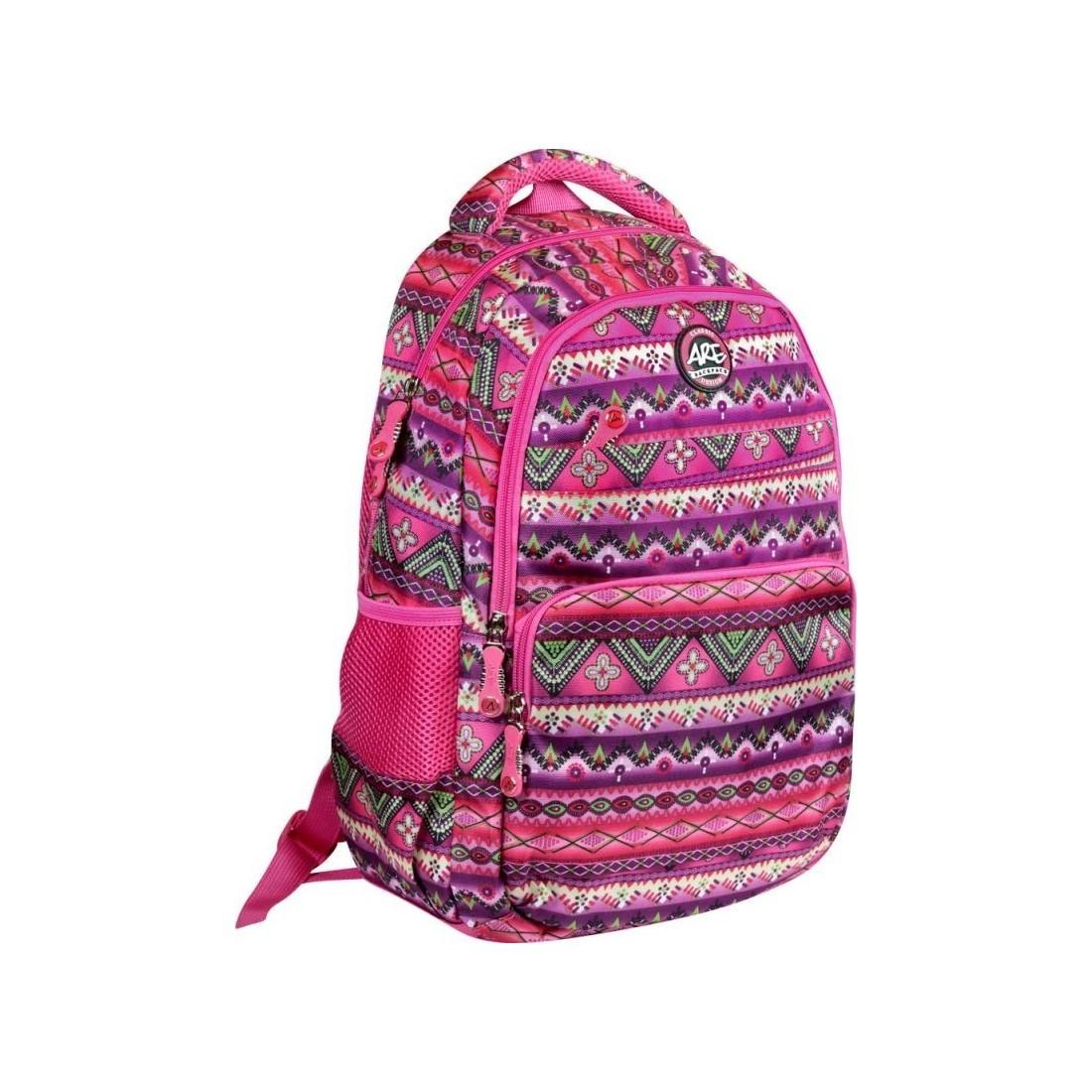 8d4b32bbac1c0 Plecak szkolny w dziewczęce, azteckie wzory - idealny dla dziewczyn  lubiących się wyróżniać z modnym plecakiem.