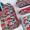 Piórnik MILAN kolorowe literki z wyposażeniem - MULTIPIÓRNIK 5w1 - SUPER HEROES