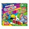 BAMBINO Plastelina w 24 kolorach (2 z brokatem) z PODKŁADKĄ GRATIS - mix wzorów