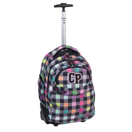 Plecak CoolPack na kółkach dla dziewczyny w kratkę - RAPID PASTEL CHECK CP 123