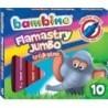 BAMBINO Flamastry trójkątne JUMBO w 10 kolorach - mix wzorów