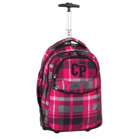 Plecak CoolPack na kółkach dla dziewczynki w kratę - RAPID RUBIN CP 103