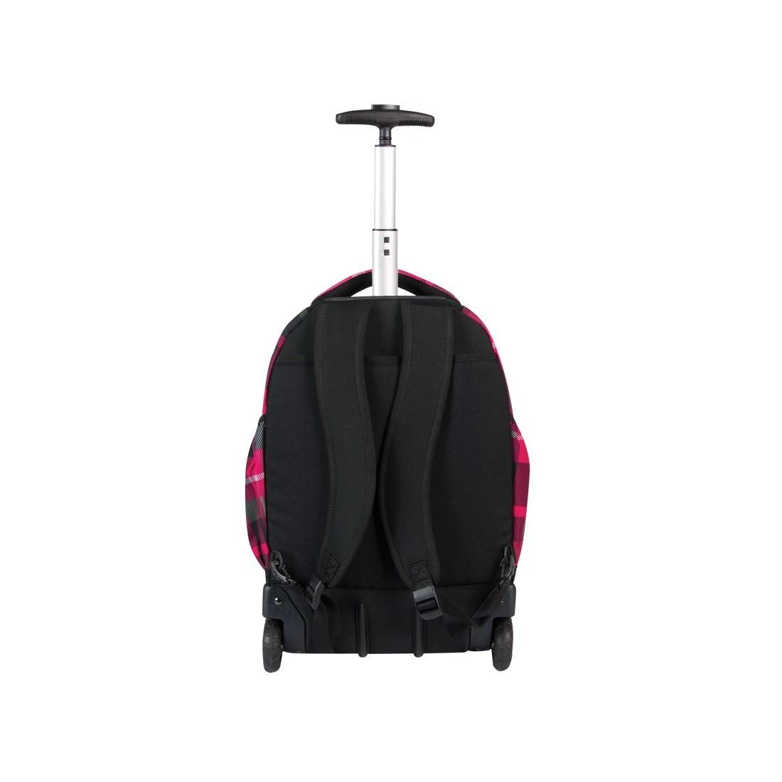 Plecak CoolPack na kółkach dla dziewczynki w kratę - RAPID RUBIN CP 103 - plecak-tornister.pl