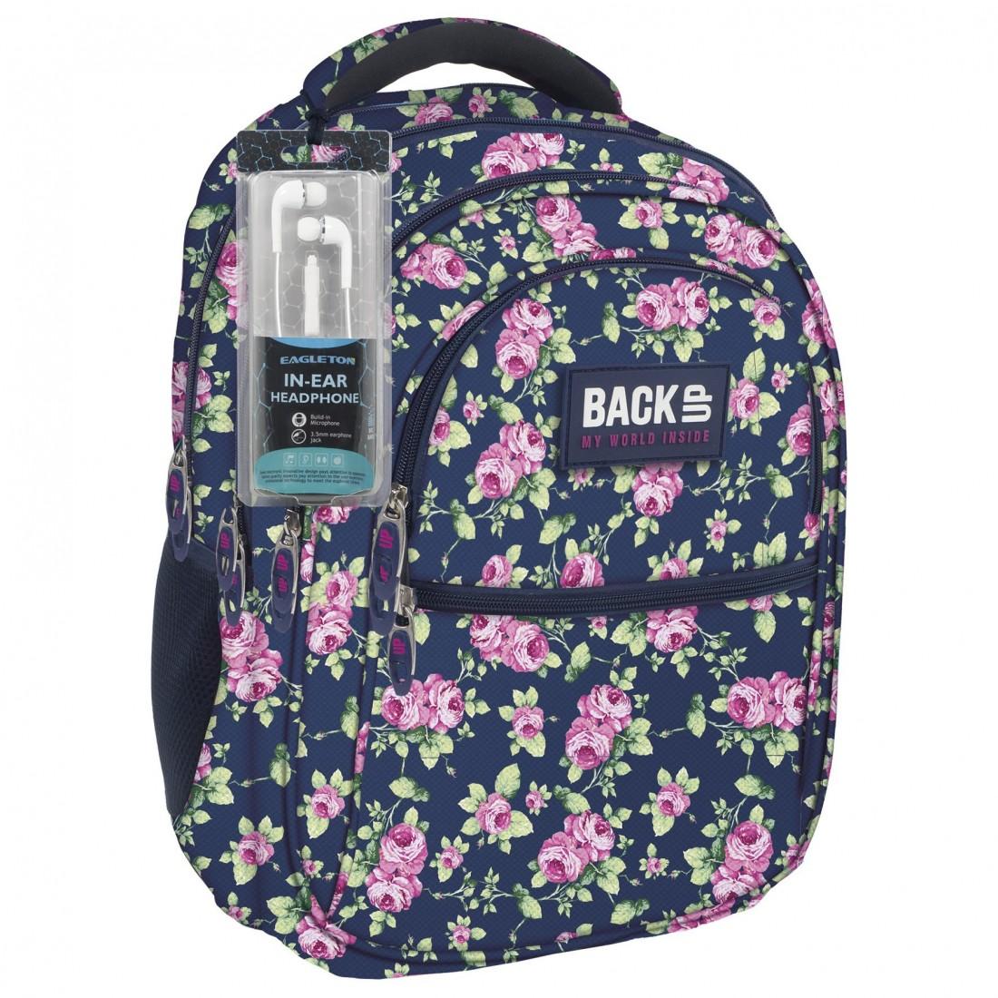 495e34946d671 Rustykalny plecak w róże dla dziewczyny o romantycznej duszy. Jeśli lubisz  styl boho lub rustykalny - to plecak dla Ciebie. Do tego jest bardzo  pojemny ...