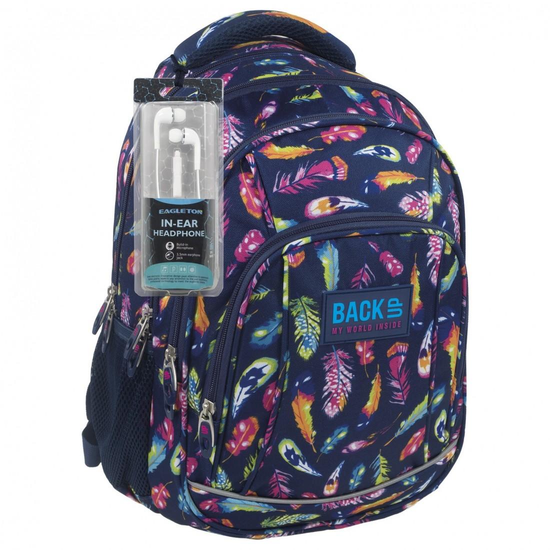 4d87b32765ca1 Supermodny plecak w piórka dla modnej nastolatki - praktyczna budowa i duża  pojemność sprawiają, że to jeden z hitowych modeli plecaków do szkoły.