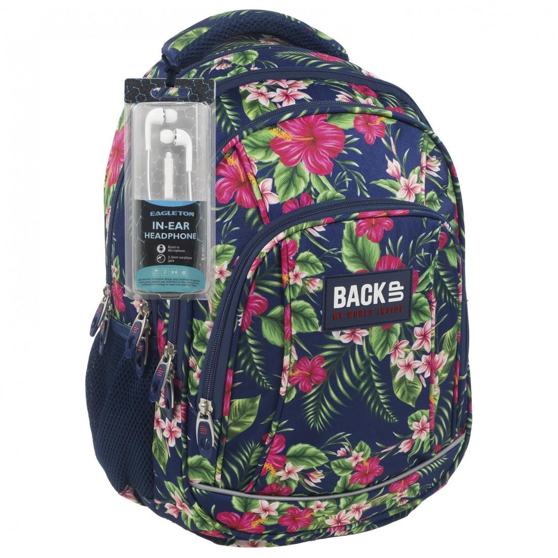 1f095671551f3 Modny plecak w tropikalnym stylu w różowe kwiaty hibiskusa - najbardziej  topowe wzornictwo zostało połączone w jeden plecak szkolny wraz z wygodą  oraz ...