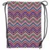 Plecak na sznurkach / worek kolorowe szlaczki BackUP A 35