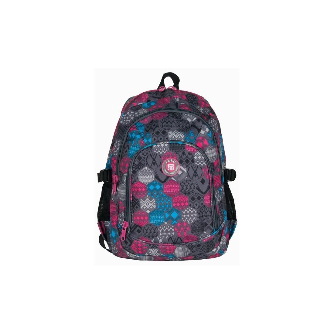 Plecak młodzieżowy w kolorowe figury - plecak-tornister.pl