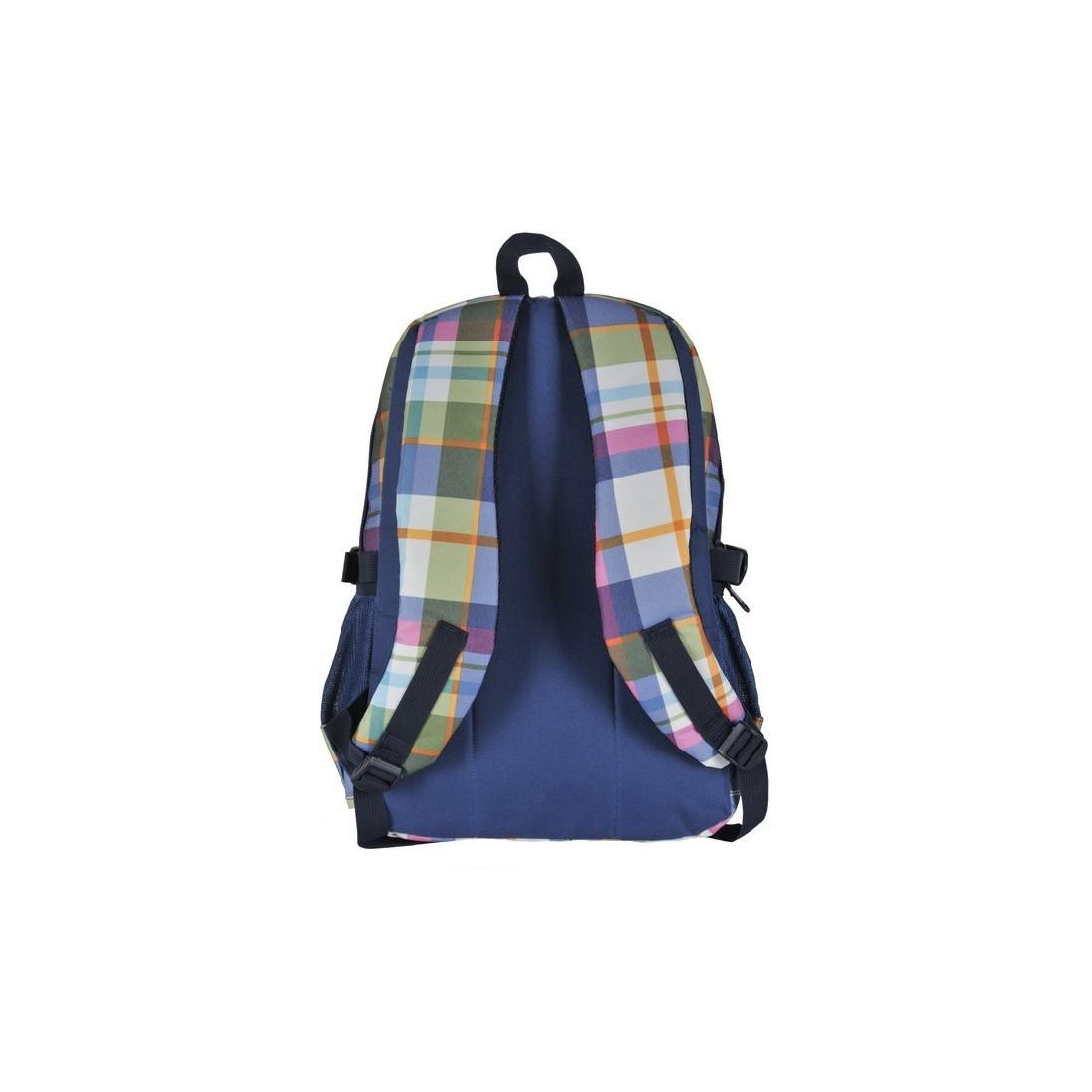 Plecak młodzieżowy w pastelową kratę - plecak-tornister.pl