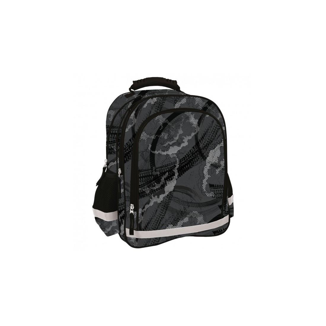 96d5b60749b3d Szary plecak do 1 klasy dla chłopca, idealny dla młodego tradycjonalisty,  który nie przepada za kolorowymi plecakami. Plecak posiada 3 praktyczne  przegrody, ...