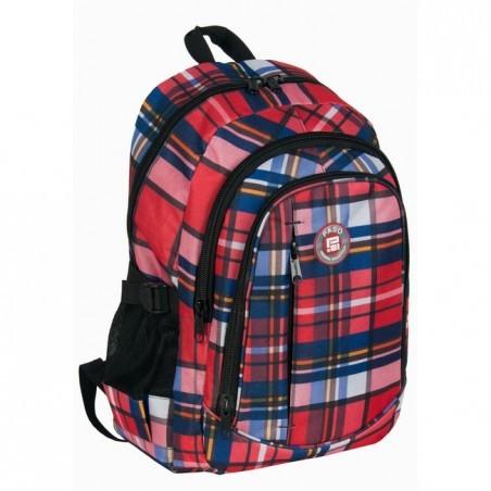 Plecak młodzieżowy w hipsterską kratę