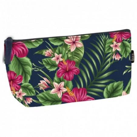 Piórnik / kosmetyczka tropikalne kwiaty BackUP