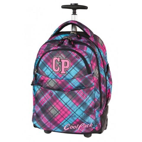 Plecak CoolPack na kółkach dla dziewczyny w kratkę - CP 043