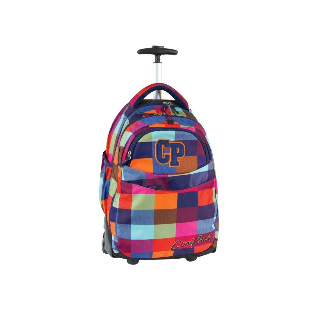 Plecak CoolPack na kółkach młodzieżowy w kratkę - RAPID MOSAIC CP 003 - plecak-tornister.pl