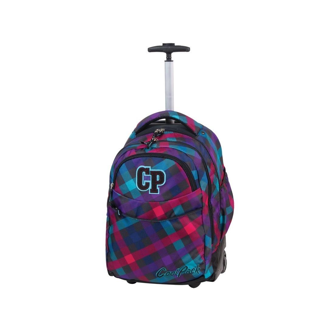 Plecak CoolPack na kółkach młodzieżowy w kratkę - CP 163