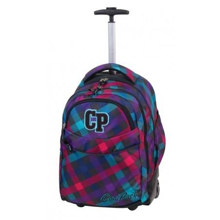 Plecak CoolPack na kółkach młodzieżowy w kratkę - RAPID ELECTRA CP 163