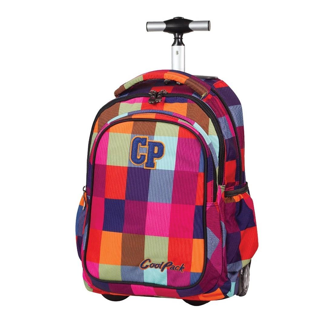 Plecak na kółkach CoolPack Junior MOSAIC w kolorową kratkę CP 003a - plecak-tornister.pl