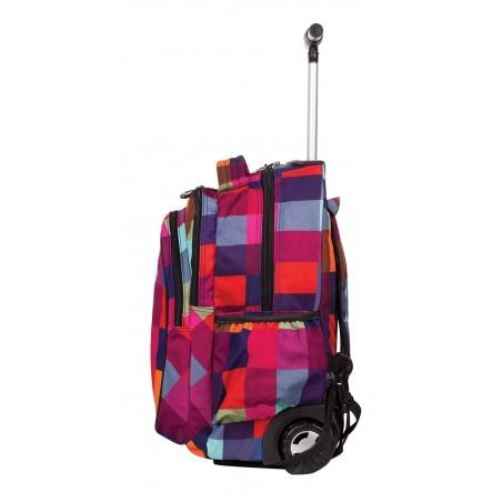 Plecak na kółkach CoolPack Junior CP 003a w kolorową kratkę