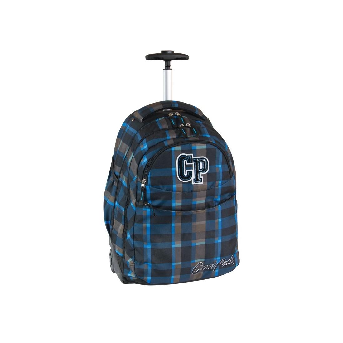 Plecak CoolPack na kółkach dla chłopca w kratkę - RAPID TEXAS CP 073 - plecak-tornister.pl
