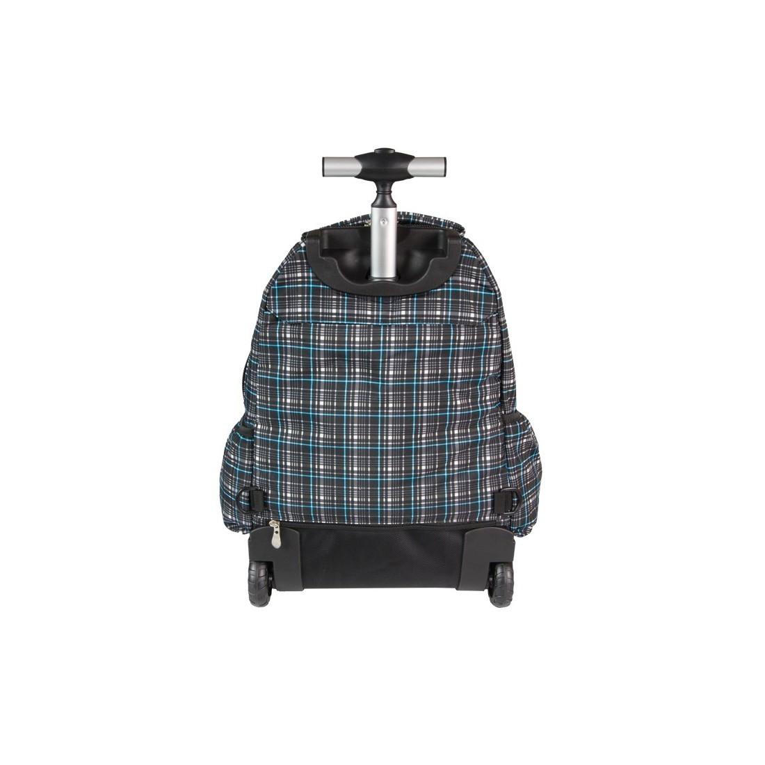 Plecak CoolPack na kółkach dla chłopca w kratkę - JUNIOR GREY SHADOW CP 191 - plecak-tornister.pl