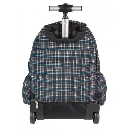 Plecak CoolPack na kółkach dla chłopca w kratkę - CP 191