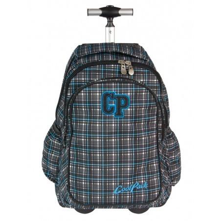 Plecak CoolPack na kółkach dla chłopca w kratkę - JUNIOR GREY SHADOW CP 191