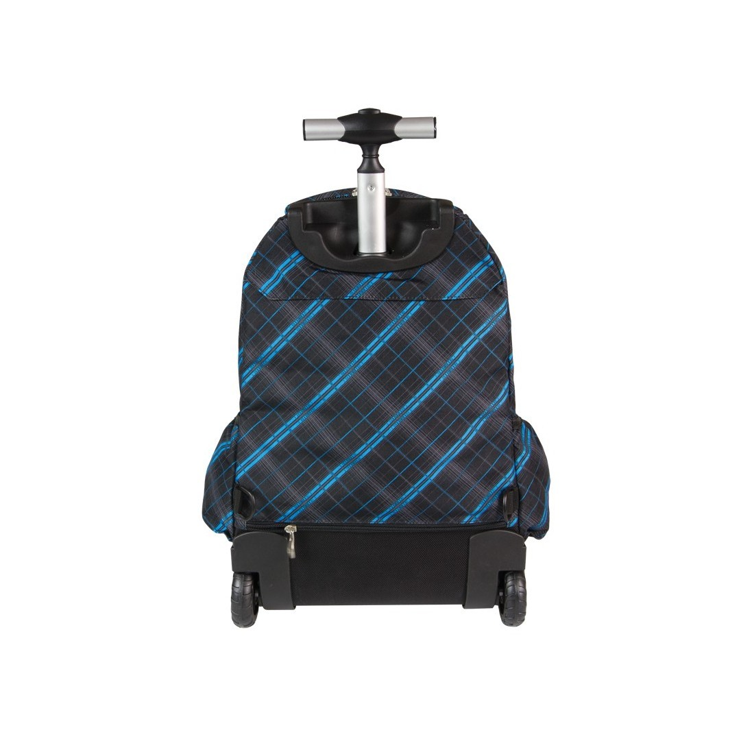 Plecak CoolPack na kółkach dla chłopca w kratkę - JUNIOR SCOTISH BLUE CP 342 - plecak-tornister.pl