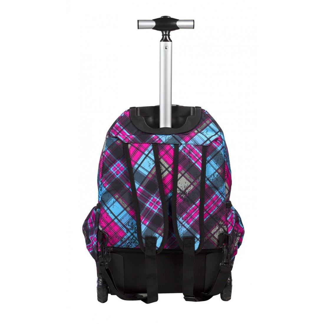 Plecak na kółkach CoolPack Junior STRATFORD CP 043a Różowo Niebieski - plecak-tornister.pl