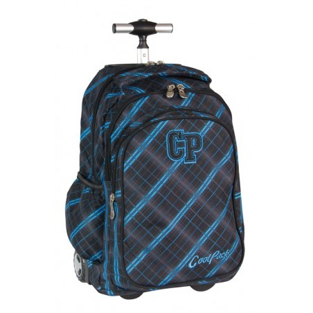 Plecak CoolPack na kółkach dla chłopca w kratkę - JUNIOR SCOTISH BLUE CP 342