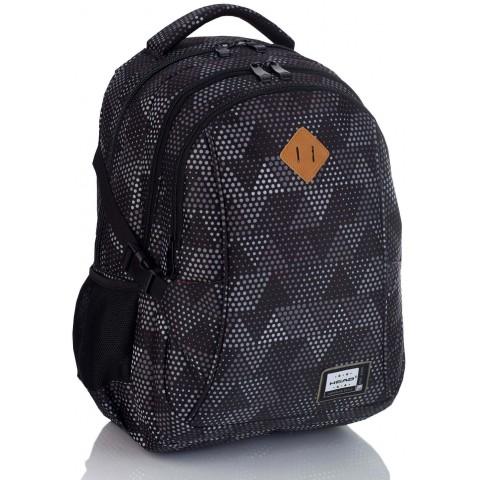 Plecak szkolny HEAD czarny w trójkąty HD-233 D