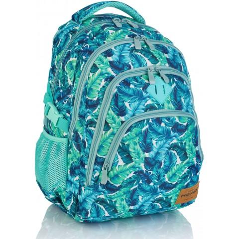 Plecak szkolny HEAD w tropikalne liście HD-289 A