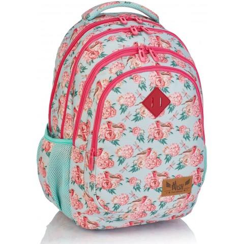 Plecak szkolny HASH pastelowy w róże HS-48 C