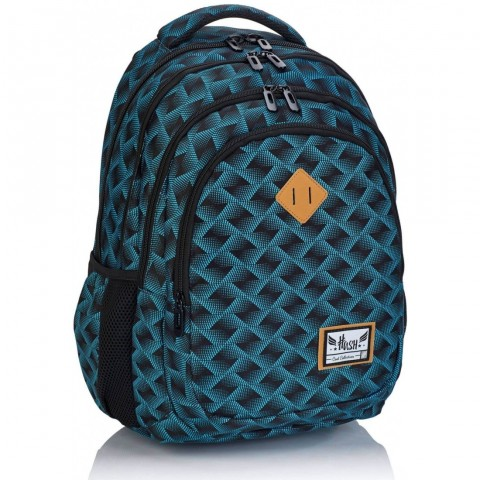 Plecak szkolny HASH ciemny w kratkę HS-104 C
