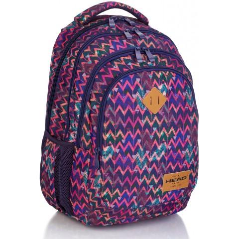 Plecak szkolny HEAD kolorowy boho w zygzaki HD-264 C