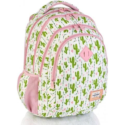 Plecak szkolny HEAD pastelowy w kaktusy HD-307 C
