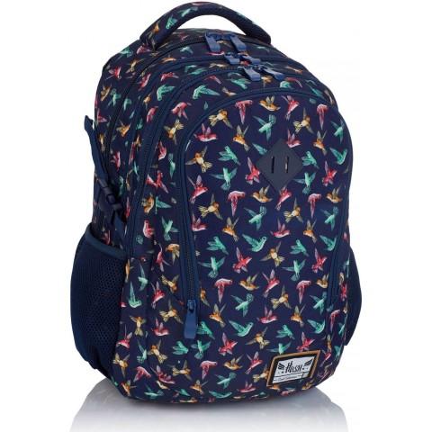 Plecak szkolny HASH granatowy w kolibry HS-45 E