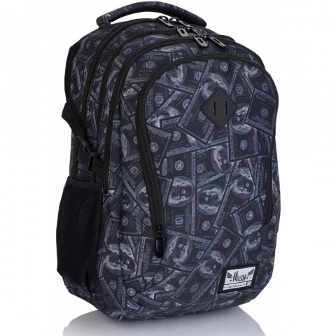 Plecak szkolny HASH czarny w dolary HS-171 E