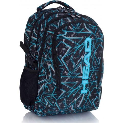 Plecak szkolny HEAD czarny w niebieskie linie dla chłopaka HD-256 E