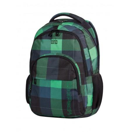 Plecak młodzieżowy CoolPack CP lekki zielony w kratkę BASIC OXFORD 493