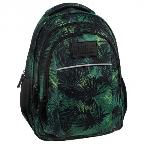 Plecak młodzieżowy BackUP zielony w liście KOMANDO H49