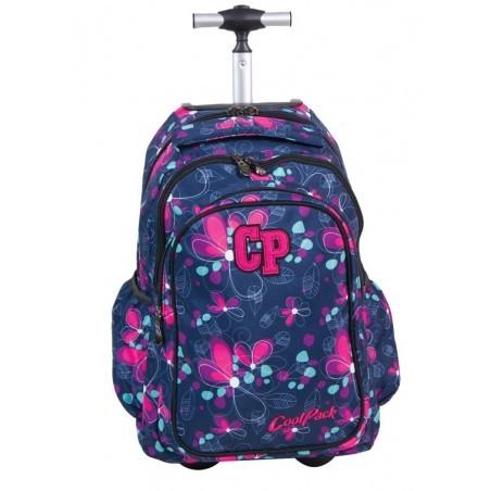 Plecak CoolPack na kółkach dla dziewczynki w kwiatki - JUNIOR NIGHT MEADOW CP 201