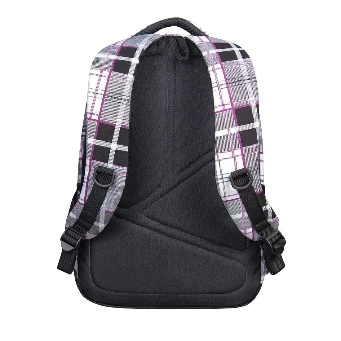 Plecak młodzieżowy CoolPack CP lekki czarno - biały w kratkę BASIC POLO 360 - plecak-tornister.pl