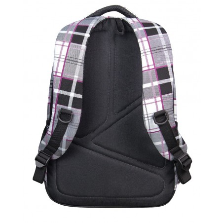 Plecak młodzieżowy CoolPack CP lekki czarno - biały w kratkę BASIC POLO 360