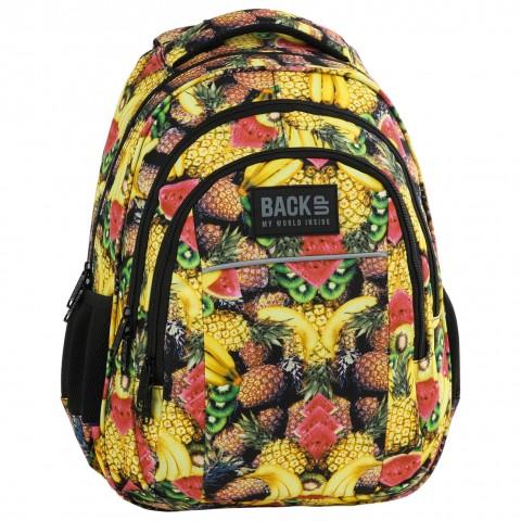 Plecak młodzieżowy BackUP w ananasy owoce TUTTI FRUTTI H29