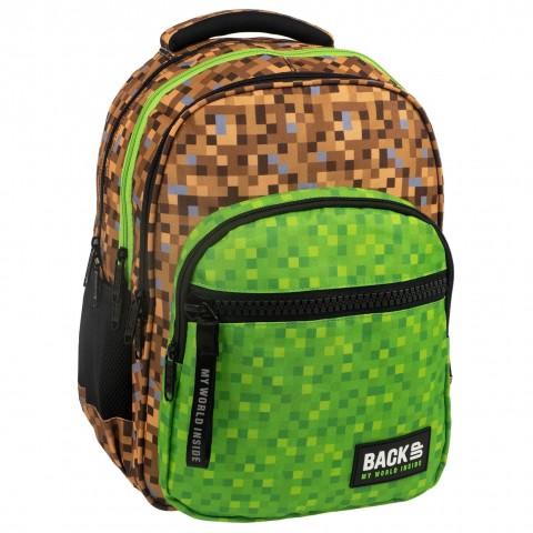 Plecak młodzieżowy szkolny BackUP klocki kostki pixele dla fana gry minecraft GAME M39